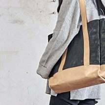On Sale, Full Grain Leather Bag, Tote Bag, Large Shoulder Bag, Shopping Bag image 6