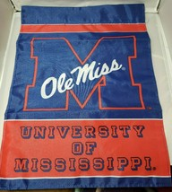 Ole miss University of Mississippi garden small flag new NCAA College 13... - $22.23