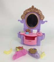 Fisher Price Loving Family Dollhouse Dress Up Vanity Mirror w Tiara Crow... - $14.21