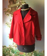 Notations Jacket  Women 3/4 Sleeve Red Swing Jacket Coat Size 1X - $36.63