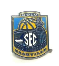 2010 SEC Basketball Men's Tournament Nashville TN Silver Tone Enamel Lap... - $15.60