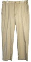 Haggar Clothing Men's Classic Fit Cool 18 Dress Pants Khaki Tan Slacks 34x31
