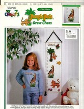 Color Charts JUNGLE PALS Grow Growth Chart in Counted Cross Stitch 30502 - $6.17