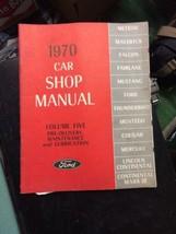 1970 Ford Car Volume 5 Shop MANUAL Vintage car automobile repair - $39.99