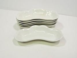 Set of 6 Vienna S.C. Co White Bone Crescent Side Dishes Scalloped Edge 7... - $31.68