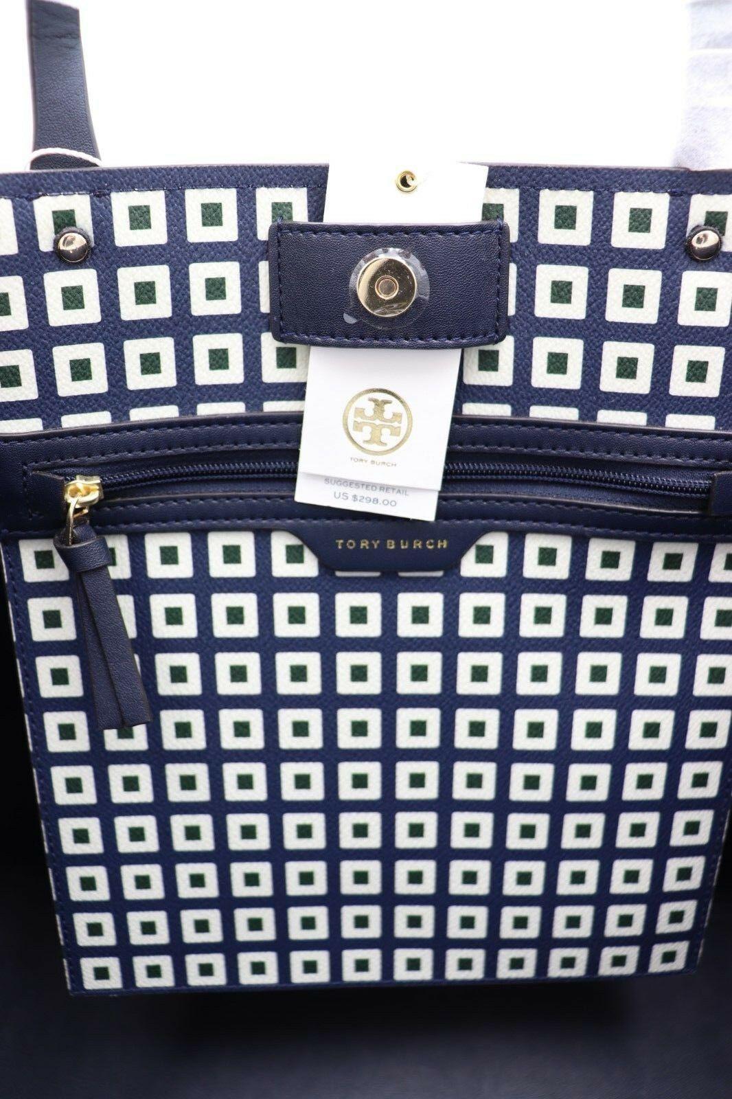 NWT Tory Burch Kerrington Square Tote Green Milano Shoulder Bag New  $298 image 5