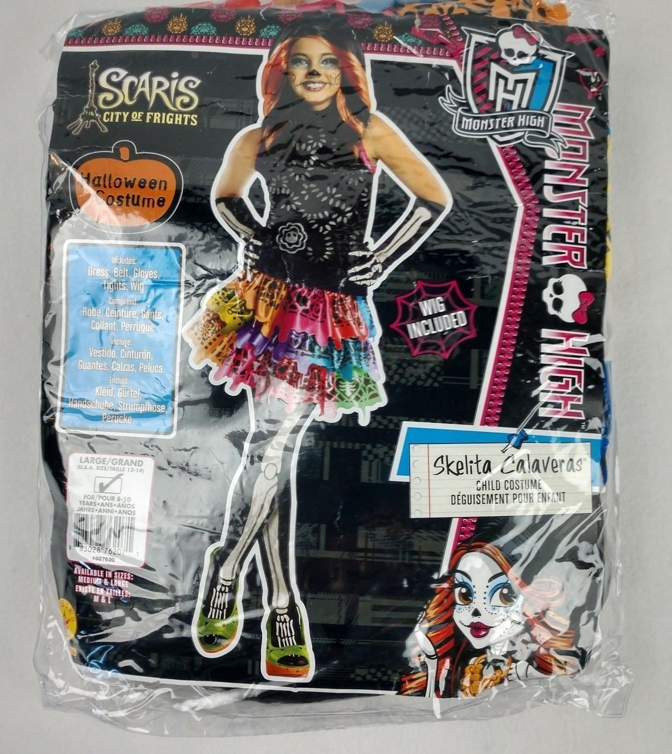 Rubies Monster High Skelita Calaveras Halloween Costume Dress Girl Medium 8-10  sc 1 st  Bonanza & Rubies Monster High Skelita Calaveras and 40 similar items