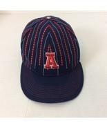 Atlanta Georgia Navy Blue Red New Era 59Fifty Size 7 3/8 Baseball Cap Ba... - $17.75