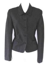 LAURA ASHLEY Black Linen Viscose Blazer Jacket 10 Knot Buttons UK 14 - $20.00