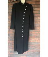 Virgo Sheath Dress Size 8 Long Sleeve Shoulder Pads Full Front Buttons M... - $24.50
