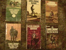 [P17G] (LOT OF 6) PAPERBACK WESTERNS By LOUIS L'AMOUR - $19.20