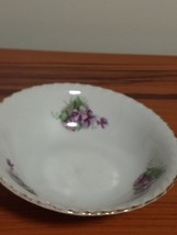 China Bowl Hand Painted in Japan , Purple Flowers - $4.95
