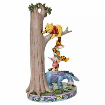 """Jim Shore """"Hundred Acre Caper """" Winnie the Pooh, Tigger, Eeyore, Piglet in Tree image 2"""