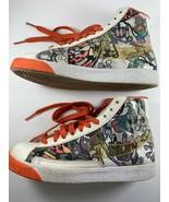 Nike Orange Floral Blazer XB High Top 317808 Size 7 Sneaker - $95.03