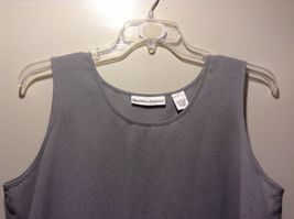 Used Great Condition Draper's and Damon's Large Semi Sheer Gray Tank Top image 3