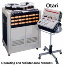 Otari Operating and Maintenance Manuals * PDF * CDROM - $11.99