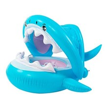 Dciko Baby Pool Float with Canopy-Inflatable Swimming Shark Floatie for ... - $29.89