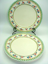 Mikasa Fashion Plate ROSE PARADE CP012 Set of 3 Salad/Dessert 8 3/8in Plates - $17.47