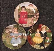 Set Of 3 American Innocents Collector Plates Marsten & Mandrajji Knowles... - $12.86