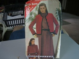 Butterick See & Sew 3834 Jacket & Dress Pattern - Size 14/16/18 Bust 36-40  - $7.91
