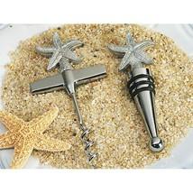 Beach Theme Starfish Wine Opener / Wine Stopper Set - 12 Sets - $61.95