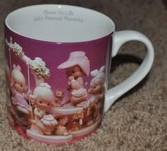 "PRECIOUS MOMENTS CERAMIC MUG CUP ""MOMS FILL LIFE WITH"" 1995 ENESCO - $15.90"