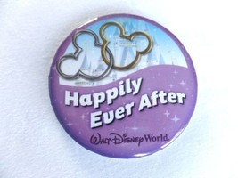 "Walt Disney World Resort Happily Ever After! 3"" Round Button Pin Collectible New - $1.98"