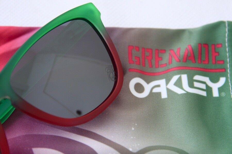 Oakley Frogskins Edición Limitada Granada Desteñido con / IRIDIO Negro 24-240