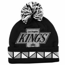 NHL Los Angeles Kings Double Sided Knitted Hat Ski Cap Jacquard Cuff Beanie image 3