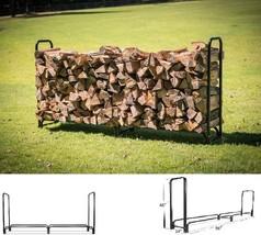 New Home Outdoors 8 ft Firewood Wood Log Rack Lumber Storage Holder Back... - $79.10