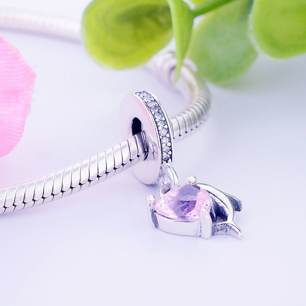 Authentic S925 Sterling Silver Jewelry Dolphin Charm Perles Convient Pandora Bra