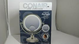 Conair Elite Collection Satin Nickel Finish Daylight Mirror 10x - New Op... - $68.99