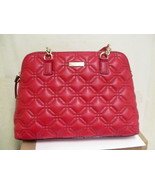 Womens Kate Spade Rachelle Astor Court Red Quilted Leather Handbag - $183.10