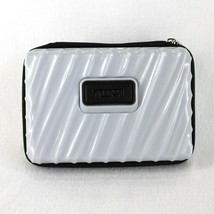"Tumi for Delta Hard Sided Toiletry Travel Case Gray Zip Around 7"" x 5"" - $12.99"
