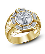 Christmas Gift For Mens Wedding Anniversary Cross Embossed Pinky Ring 92... - $97.57