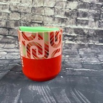 Starbucks 8 Oz Candy Cane Ceramic with lid - $25.50