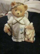 Vintage 1995 Cherished Teddies Celeste An Angel to Watch Over You Figurine Used - $9.99