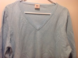 Faded Glory Originals Vintage V-Neck Baby Blue Long Sleeve Sweater image 2