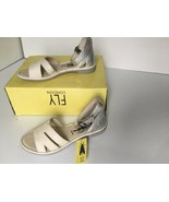 Fly London  CAMO005FLY Ankle Strap Sandals,Off-White / Silver Size 37 US... - $83.91