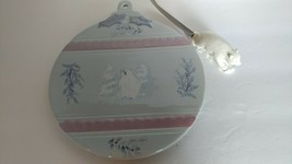 Pfaltzgraff Ceramic Cheese Plate with Polar Bear Cheese Knife - Winter Frost - $9.00