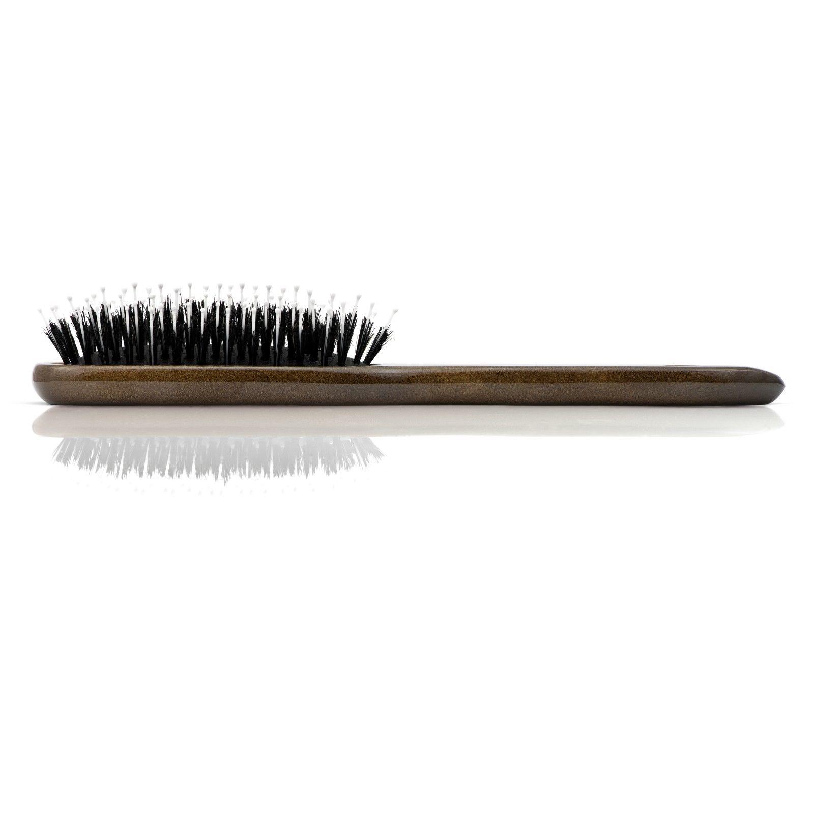 "Mont Bleu Wooden Hair Brush HBMB-20.4 made with SWAROVSKI® ""Flowers II Purple"""
