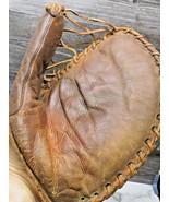 Vintage 1940'S  Right Leather Basemans Mitt Glove  - $44.55