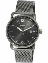Fossil Men's The Commuter FS5419 Silver Stainless-Steel Quartz Fashion W... - $70.29