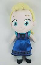 "Disney Store Frozen Toddler Elsa Doll 12"" Plush Ice Princess Blue Dress Toy - $16.93"