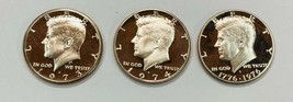 1973-S, 1974-S  &1976- S Kennedy Clad Half Dollars GEM Proof  3 Coin Set  - $9.75
