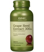 GNC Herbal Plus GRAPE SEED EXTRACT 300mg Herbal Supplement 100 capsules ... - $28.99