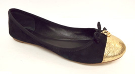 TORY BURCH Size 8 'Chelsea' Black Gold Soho Lux Ballet Flats Shoes w/ box - $84.00