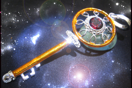 HAUNTED NECKLACE THE ROYAL GOLDEN KEY OPEN ANY LOCKED DOOR HIGHEST LIGHT MAGICK - $4,695.11