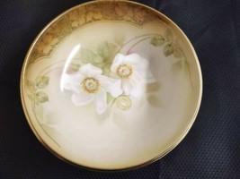 Vintage R.S. Germany footed porcelain floral designed interior bowl. - $32.38