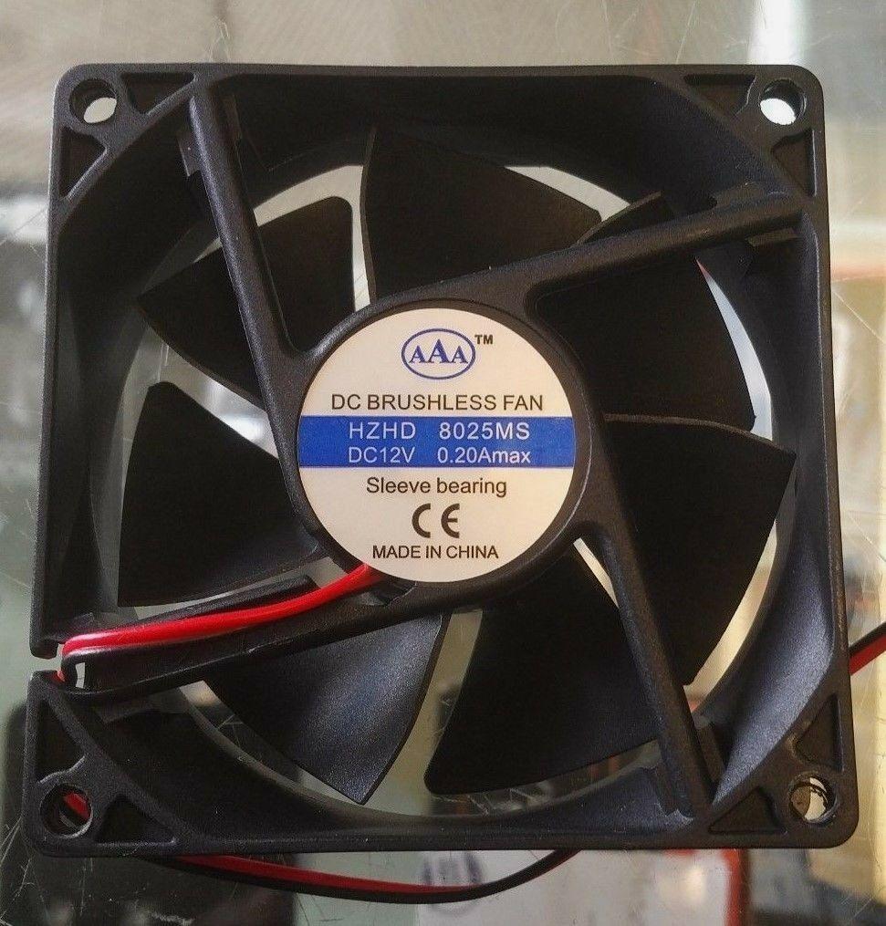 AAA  Cooling Fan 12VDC 8025S 7 Blades  80x80x25mm 3 1/8in x3 1/8 in x 1in